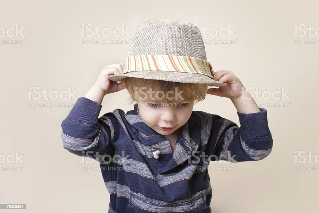 Chid in Fedora Hat: Fashion stock photo