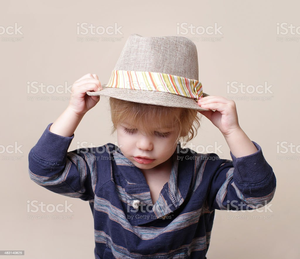 Chid in Fedora Hat: Fashion royalty-free stock photo