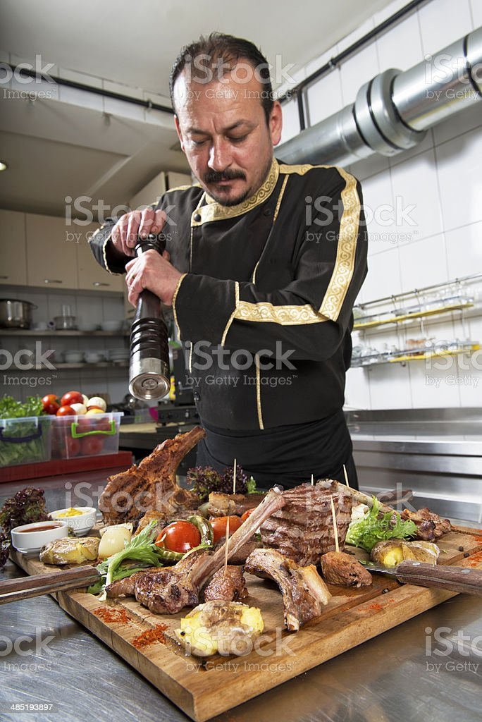 Chief cook royalty-free stock photo