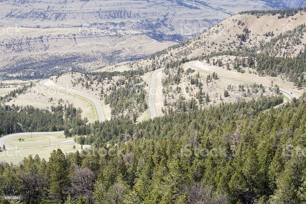 Chief Joseph Scenic Highway - Wyoming stock photo