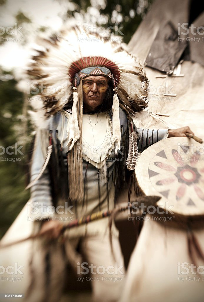 Chief Long Horn royalty-free stock photo