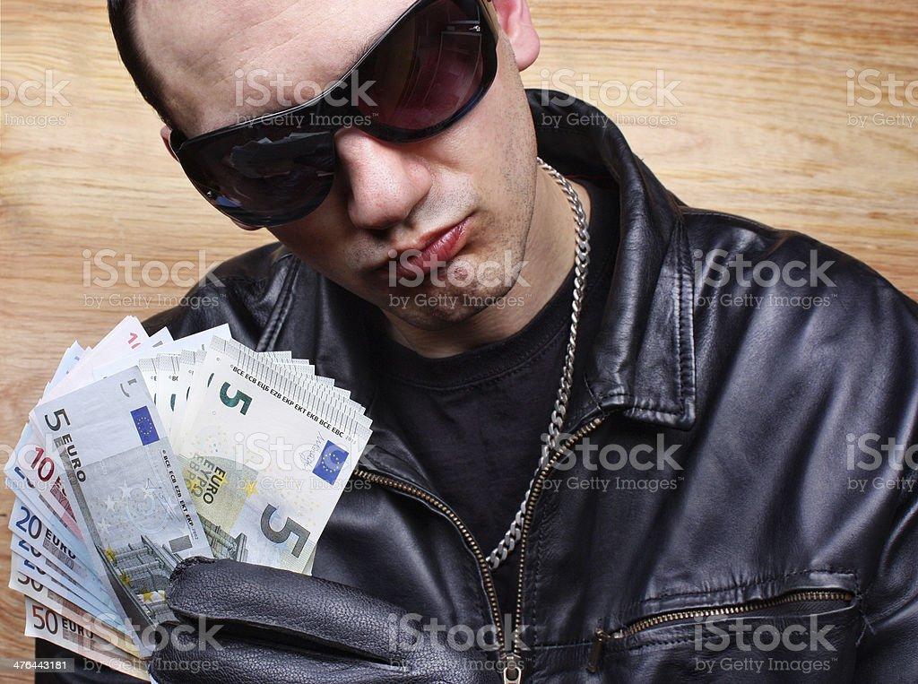 Chief mafia gangster stock photo