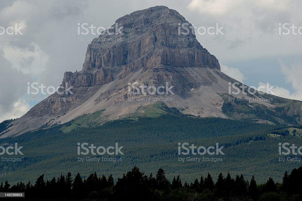 Chief Mountain stock photo