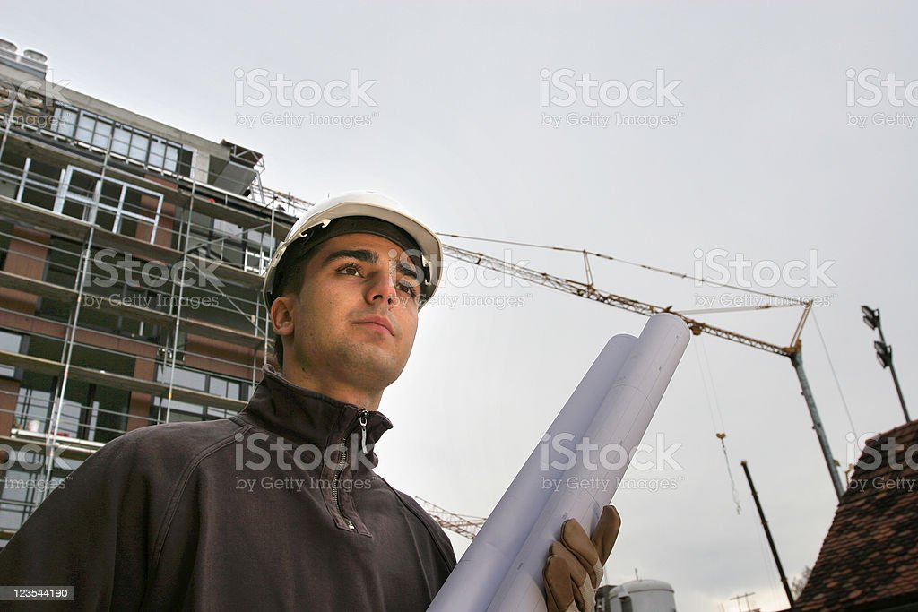 Chief of construction stock photo