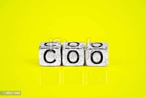 1197953545istockphoto Chief Operating Officer COO concept with cubic metal letters 1188021958