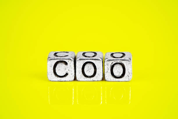 Chief Operating Officer COO concept with cubic metal letters stock photo