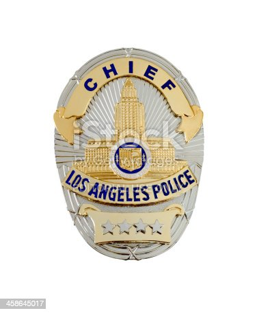 istock LAPD Chief's badge 458645017