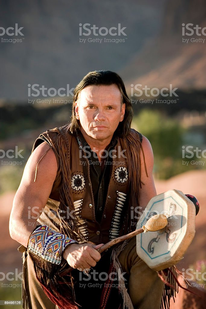 Chief's Blessing royalty-free stock photo