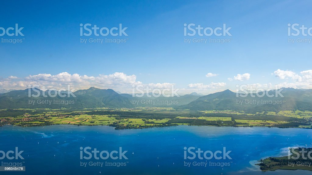 Chiemsee, Bavaria - aerial view Lizenzfreies stock-foto