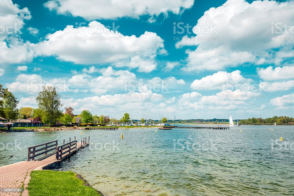 Chiemsee in Germany stock photo