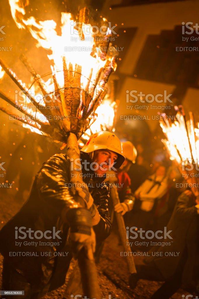 Chienbaese parade in Liestal zbiór zdjęć royalty-free