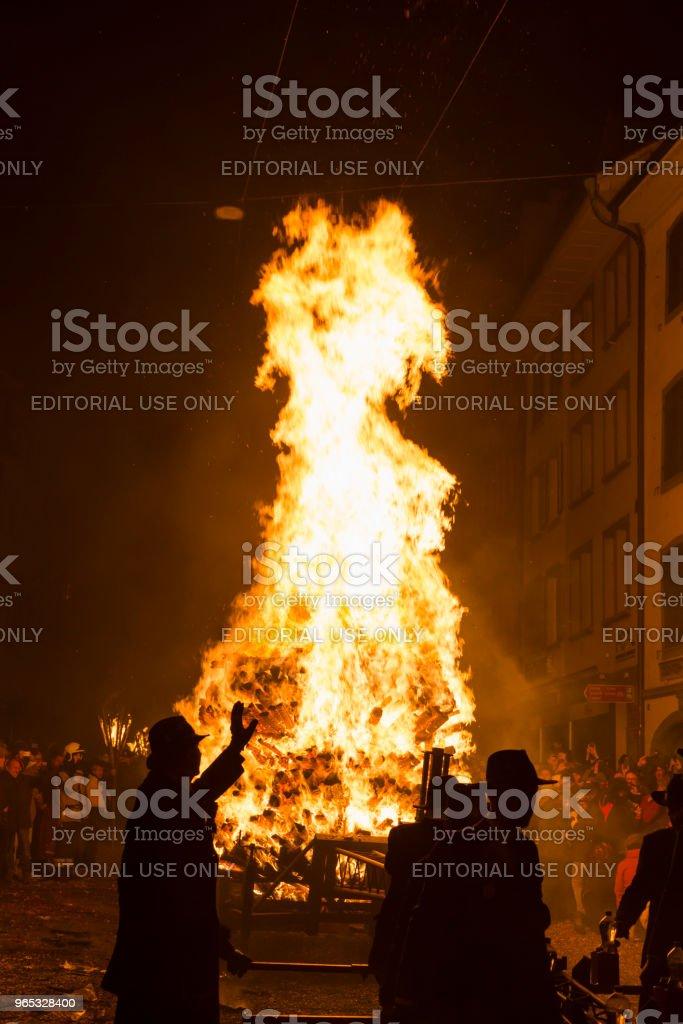 Chienbaese parade in Liestal - Zbiór zdjęć royalty-free (Ciemny)
