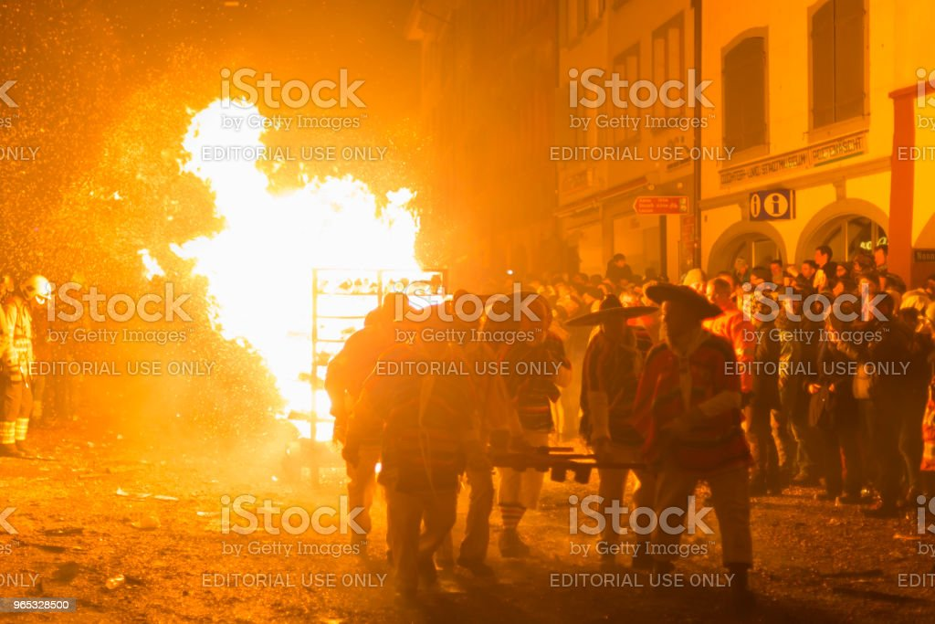 Chienbaese parade in Liestal royalty-free stock photo