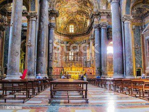 In September 2016, tourits can visit Chiesa de San Giuseppe Dei Teatini, Palermo, Sicily
