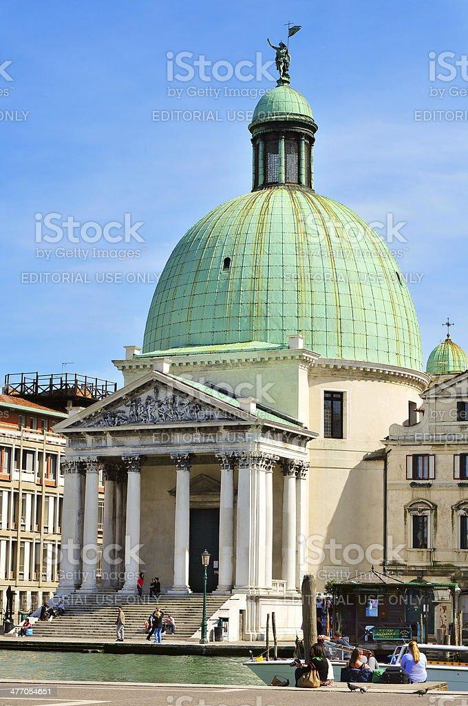 Chiesa de San Simeone Piccolo in Venice stock photo