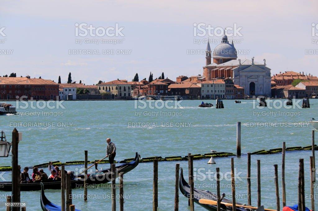 Chiesa del Santissimo Redentore, à partir de la Riva degli Schiavoni, la Promenade Sud à Venise, Italie - Photo