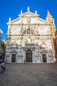 Venice, Italy – August 13, 2017: tourist in front of Chiesa di San Moisè in Venice, Italy