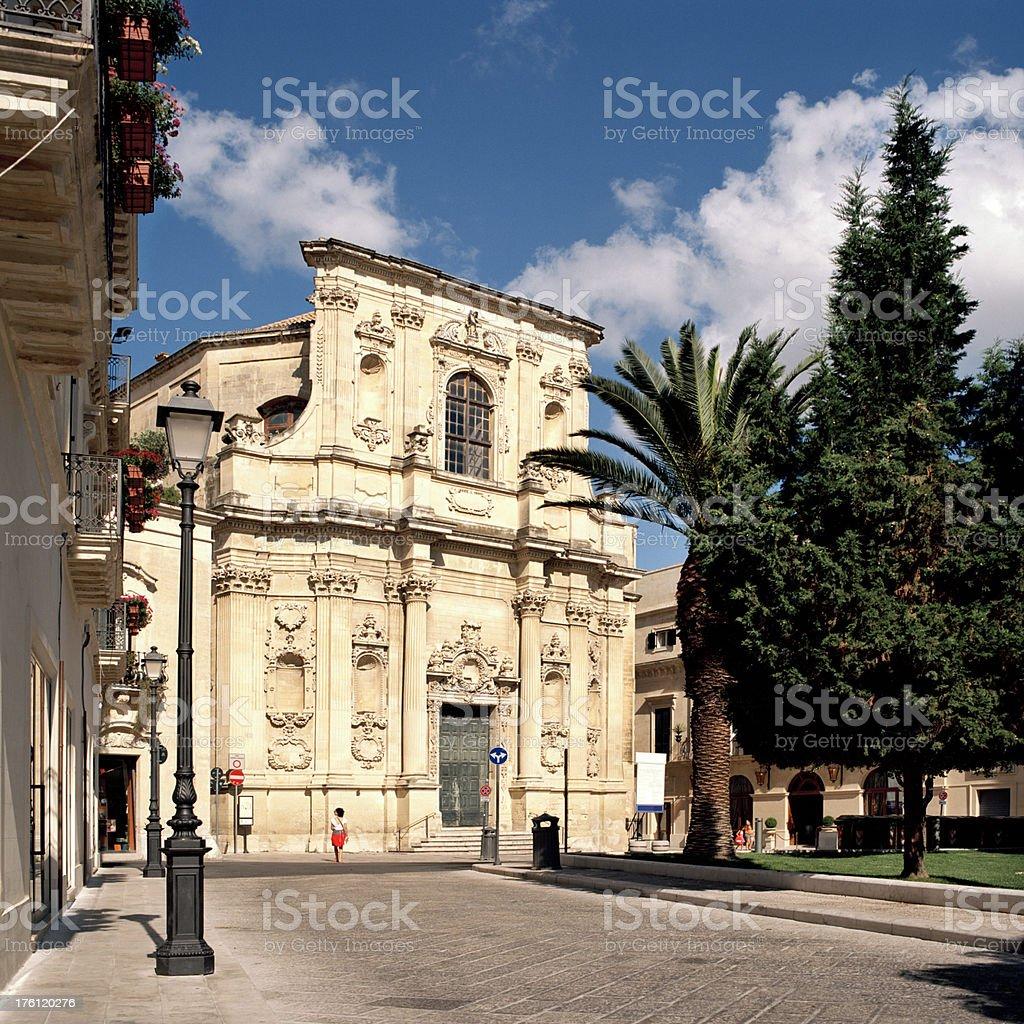 Chiesa di Santa Chiara, Lecce, Italy stock photo