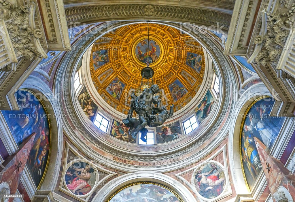Chiesa di Santa Maria del Popolo Church in Rome, Italy stock photo