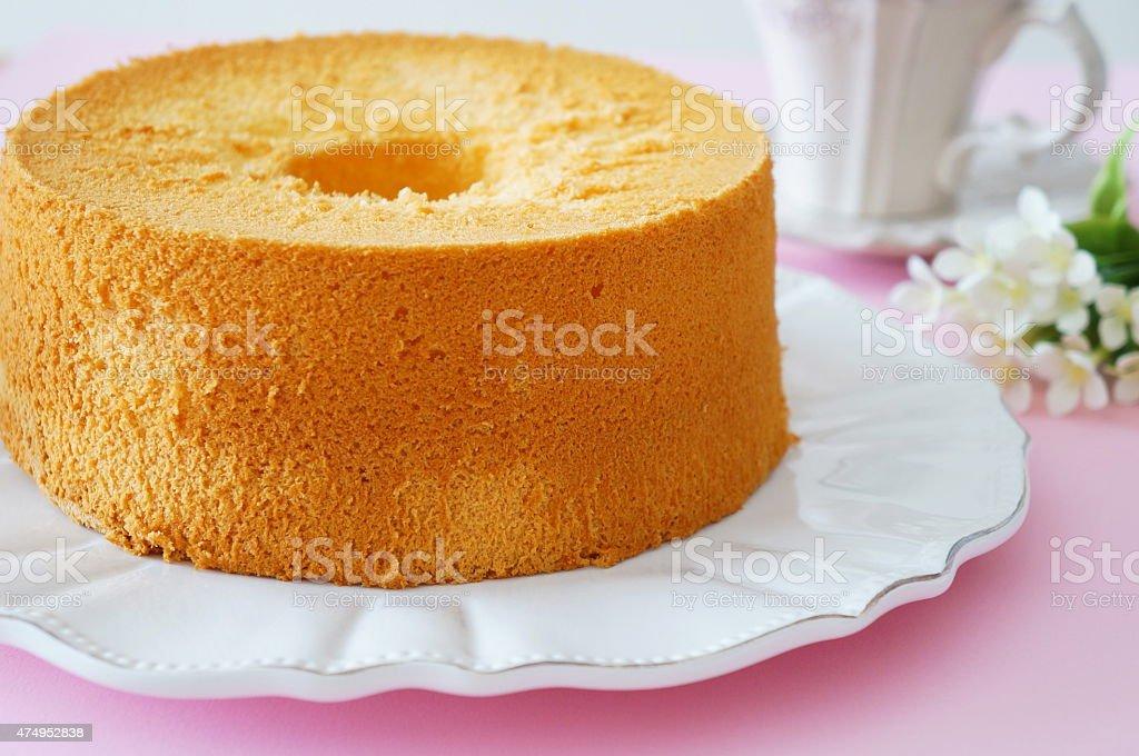 Chiffon Cake stock photo