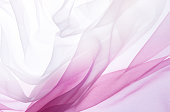Chiffon in pink and white gradient colors flying