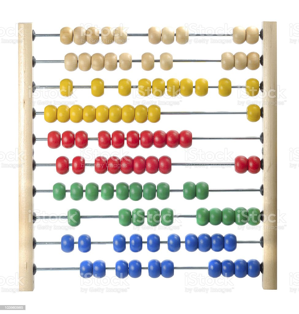 Child Abacus Counting Frame stock photo