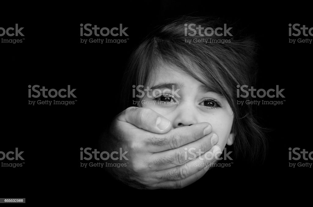 Child abduction - Concept Photo stock photo