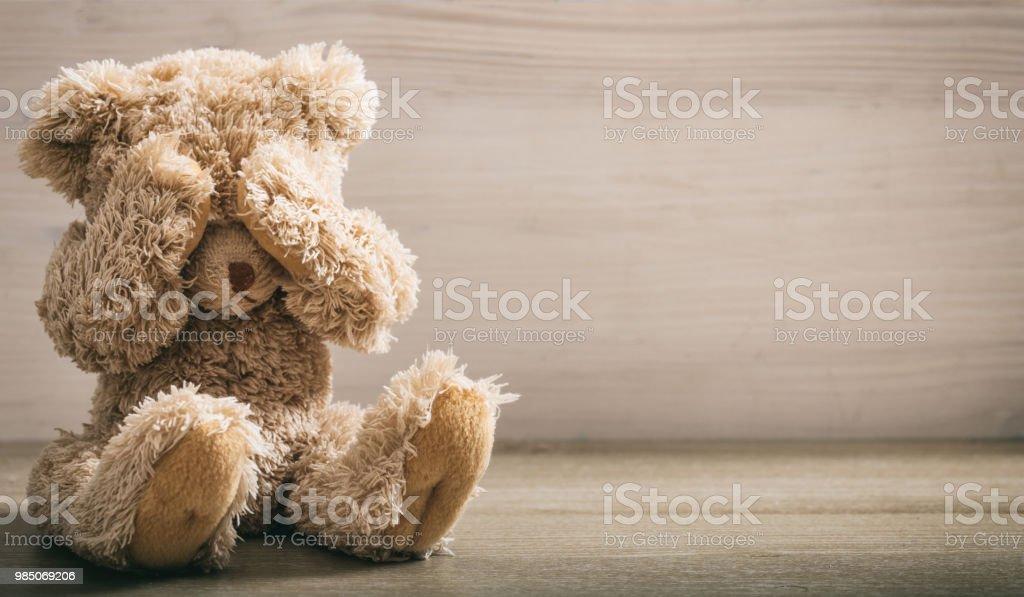 Child abuse concept stock photo
