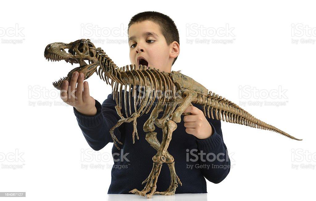 Child and Dinosaur royalty-free stock photo