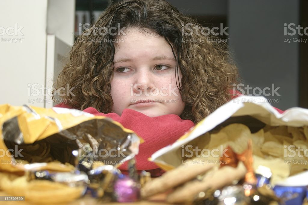 Child and Junk Food stock photo