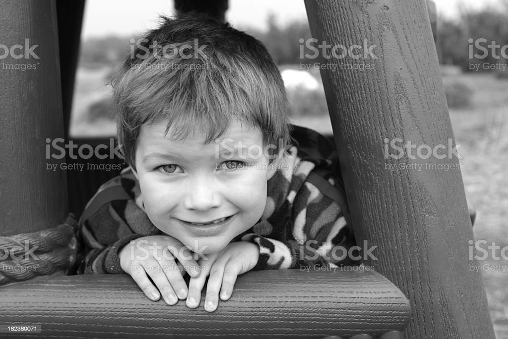 Child and Outdoor Play Equipment royalty-free stock photo