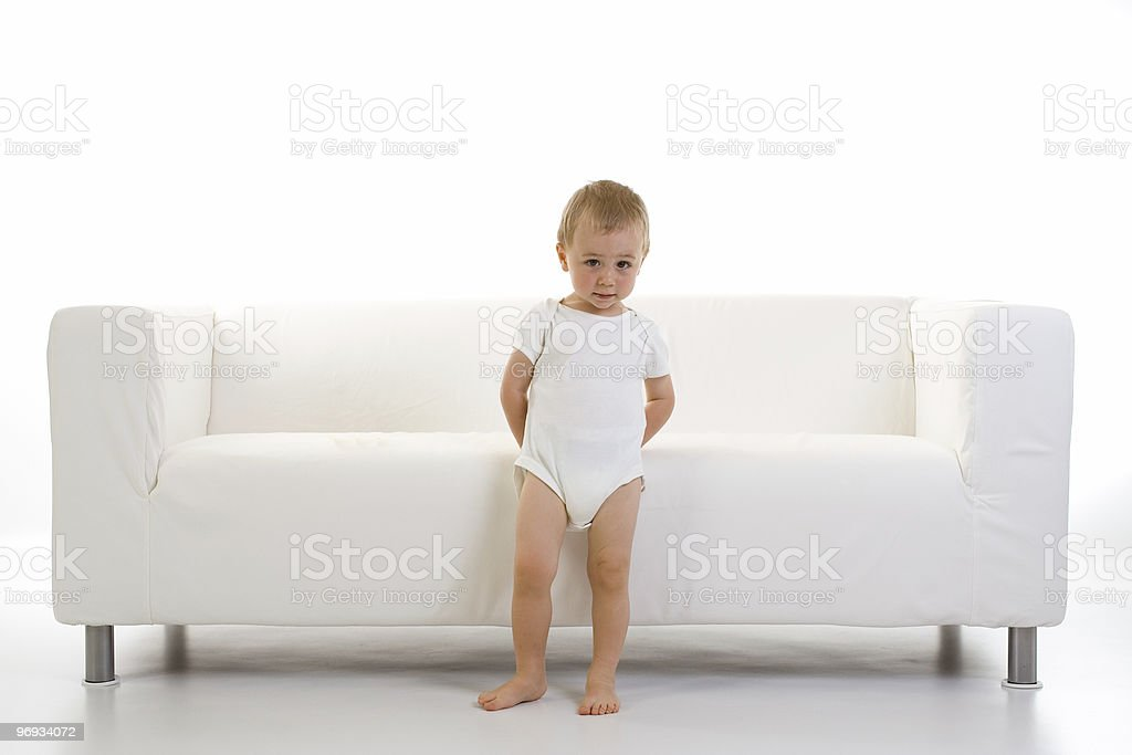 Child and sofa royalty-free stock photo