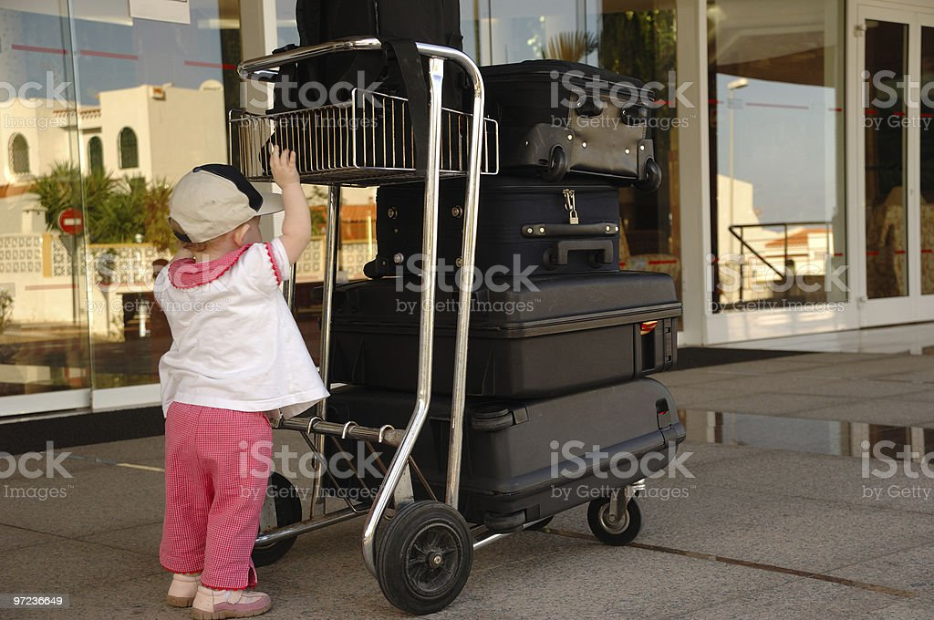 Child and suitcases royalty-free stock photo