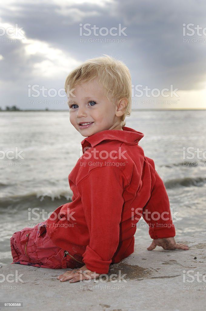 child and the sea royalty-free stock photo