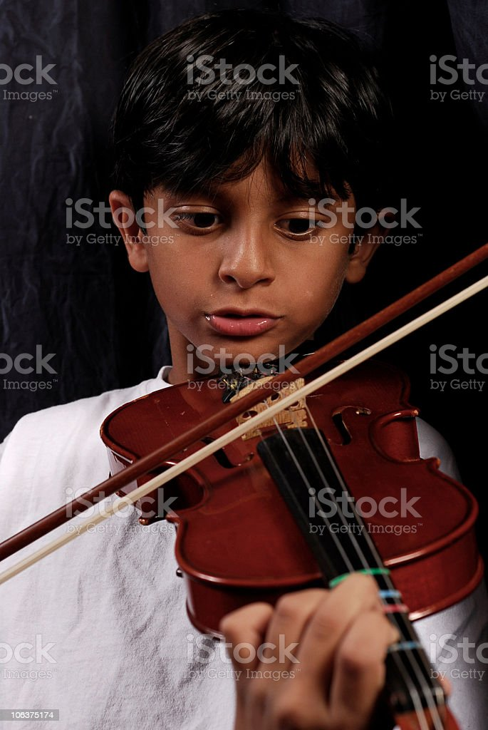 Child and Violin royalty-free stock photo