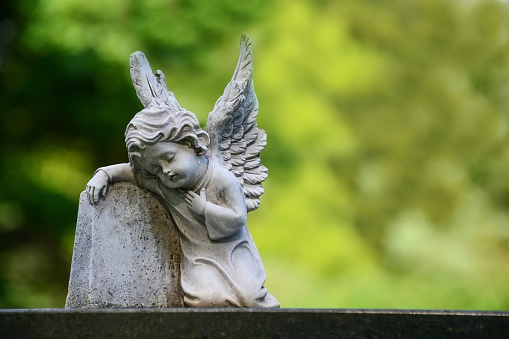 Child angel statue