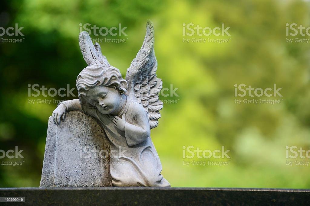 Child angel statue stock photo