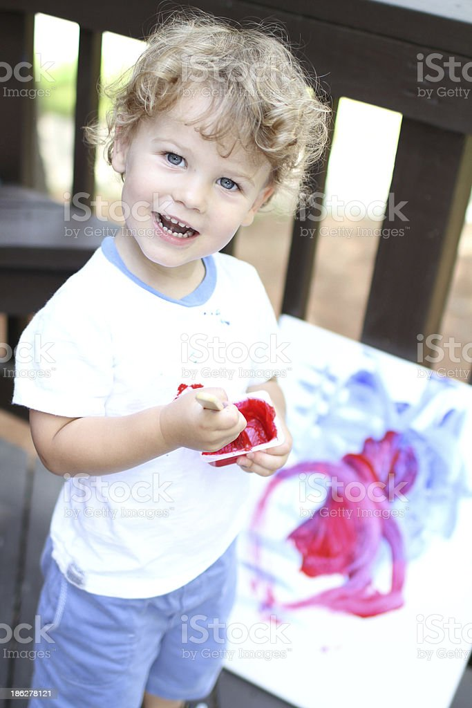 Child Art Painting royalty-free stock photo