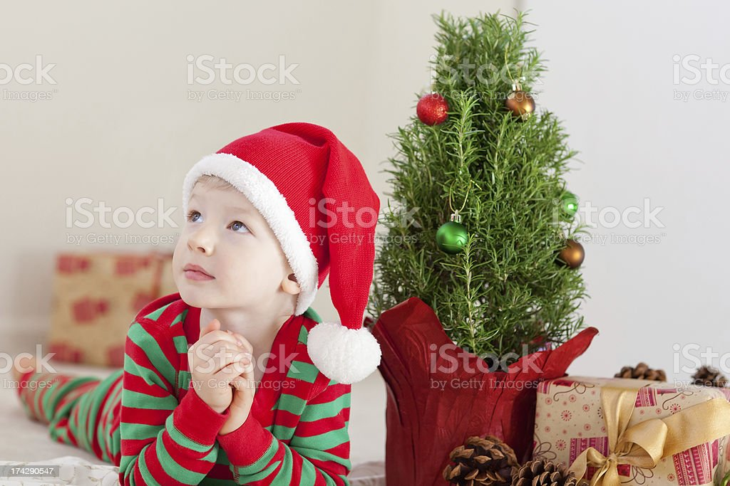 child at christmas time royalty-free stock photo