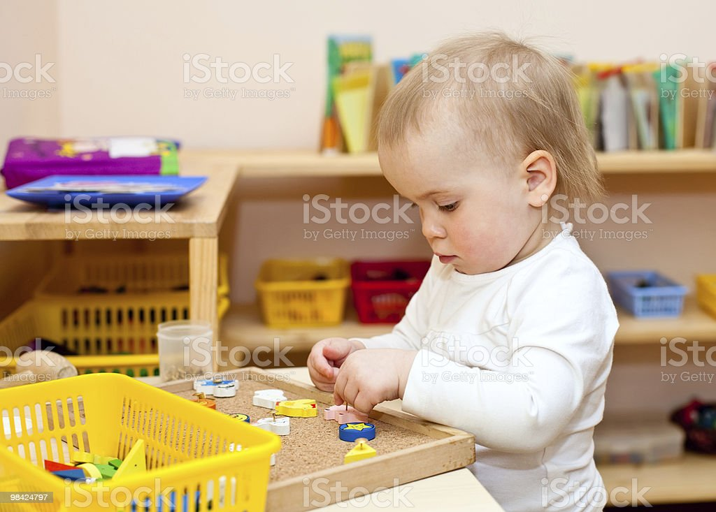 Child at nursery royalty-free stock photo