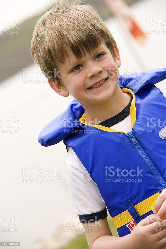Child At the Lake royalty-free stock photo