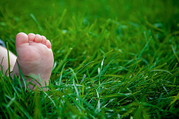 Child Barefoot stock photo