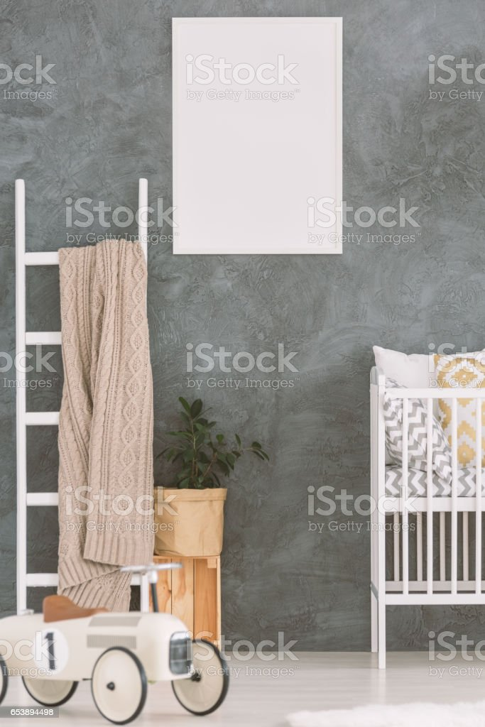Child bedroom in scandi style stock photo