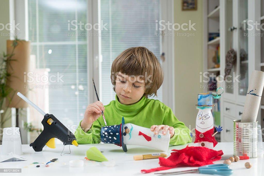 Child being creative stock photo