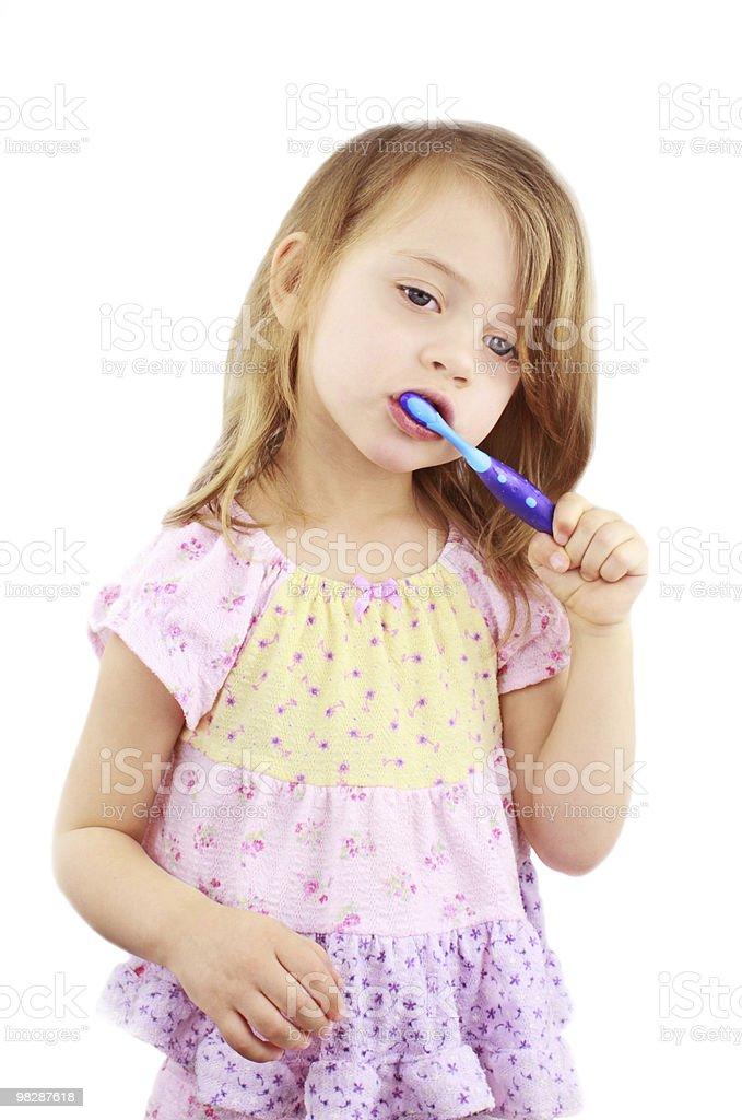 Child Brushing Teeth royalty-free stock photo