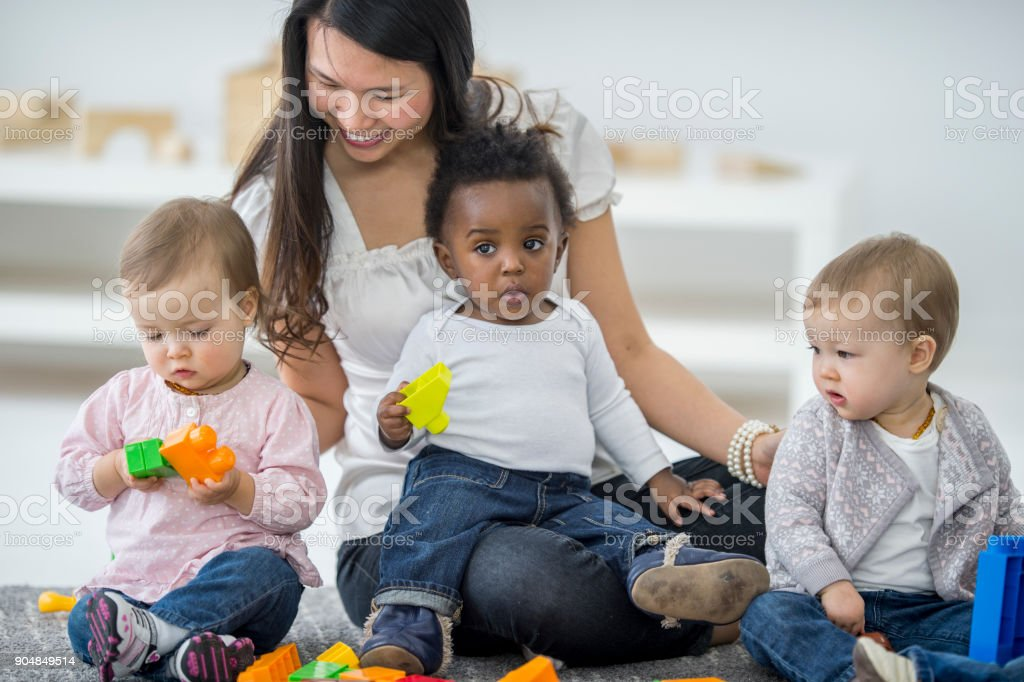 Child Care Worker stock photo