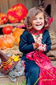 istock Child celebrating Halloween 497387659