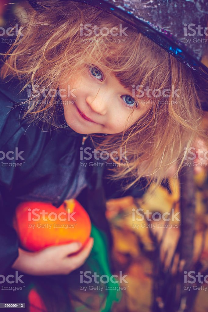 Kind Feiern Halloween Lizenzfreies stock-foto