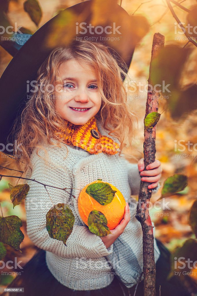 Child celebrating Halloween royalty-free stock photo