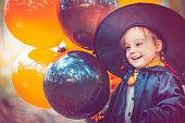 Child celebrating Halloween
